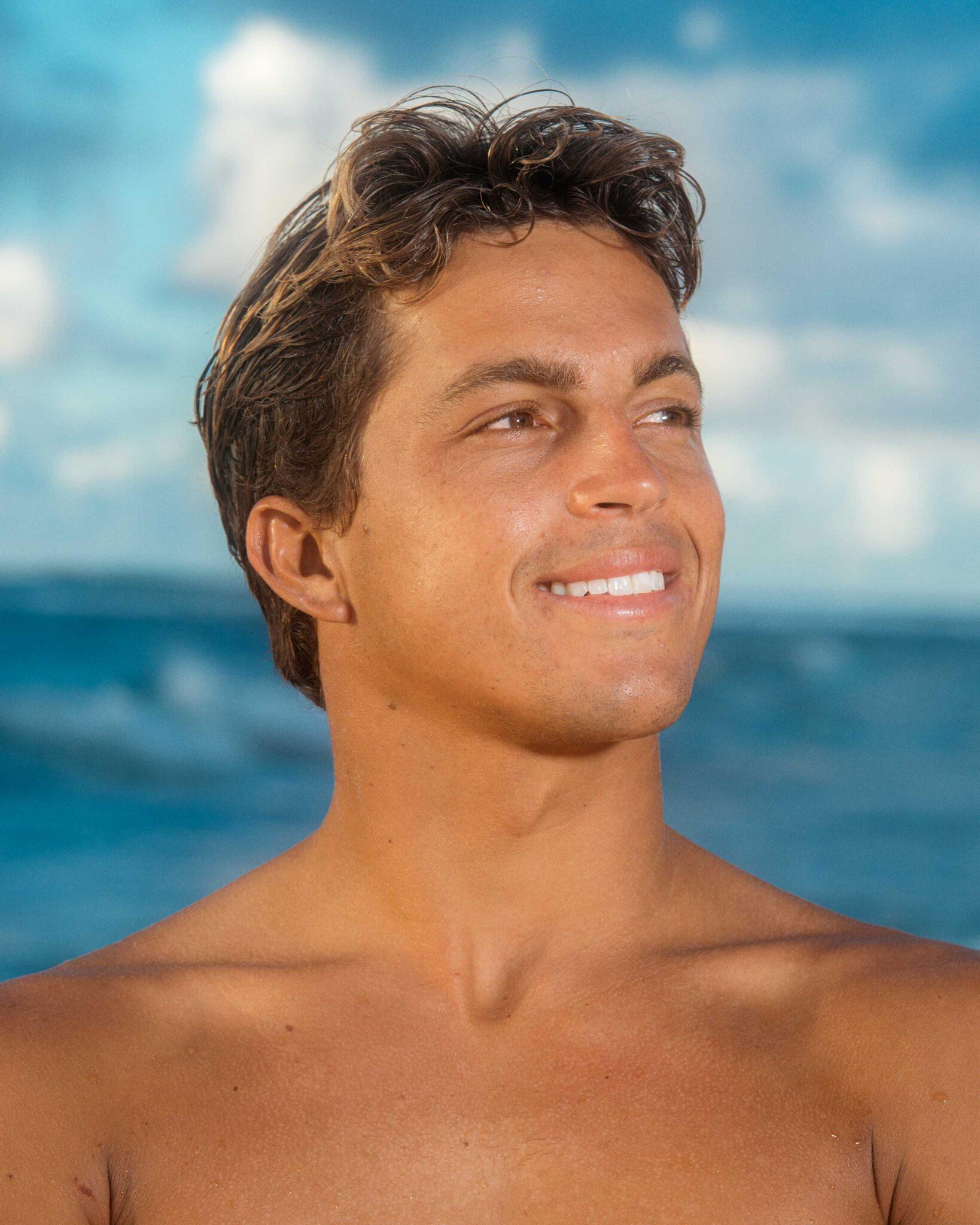 Portrait of Kai Lenny, professional surfer